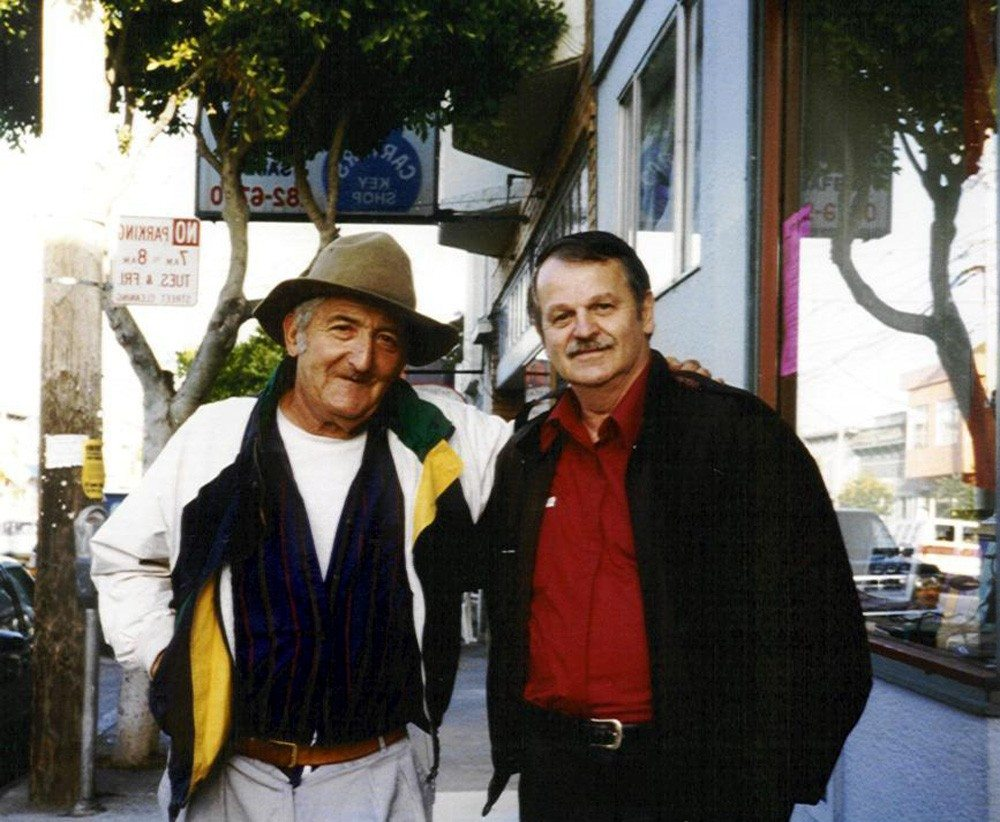 Jack Micheline and A.D.Winans, San Francisco, 1996.