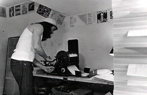 John Bennett working his 1917 A.B. Dick back in the late 70s ...