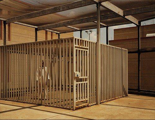 "Death Row Outdoor Recreational Facility, ""The Cage"" | Photo by Taryn Simon"