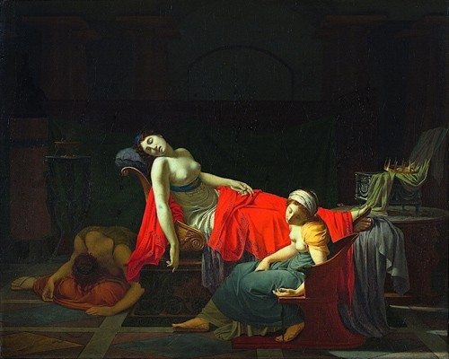 The Death of Cleopatra | Painting by Jean-Baptiste Regnault (1754 - 1829)
