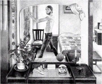 Dick Elliott: self portrait - circa 1975