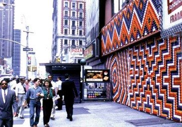 Dick's Reclamation-Project installation on 42nd Street, NYC