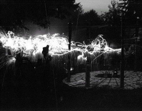 Lunar Observation Piece at night Photograph: Ken Slusher