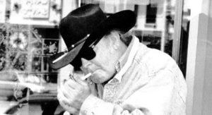 Cowboy Poet, Kell Robertson, Outside Vesuvio's Bar, North Beach, San Francisco, 2001, Copyright: A.D. Winans