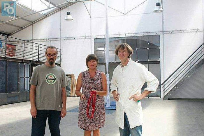 Klaus, web designer, Vanessa, créatrice textile et Franck Hamon. | Photo: Manon LE ROY LE MARREC