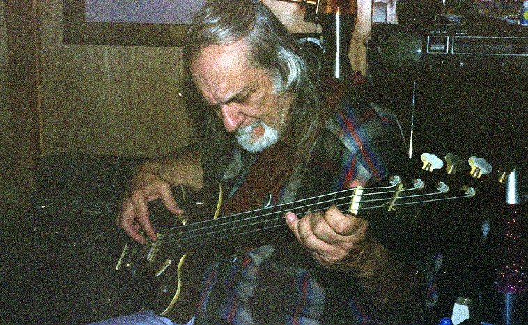 Sonny Dallas, bass | Session at Sonny's basement studio, Shirley, New York, December 2, 2004| Photo by Mark Weber