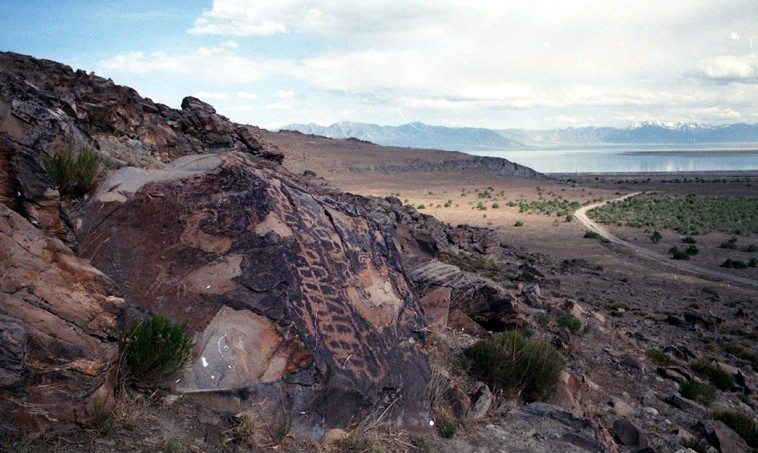 Stansbury Island, Great Salt Lake, Utah -- May 20, 1990 -- photo by Mark Weber