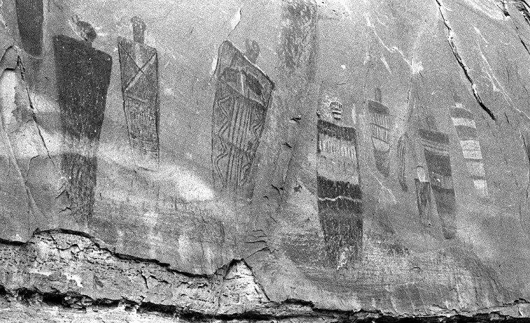 Horseshoe Canyon, Utah -- April 8, 1990 -- photo by Mark Weber