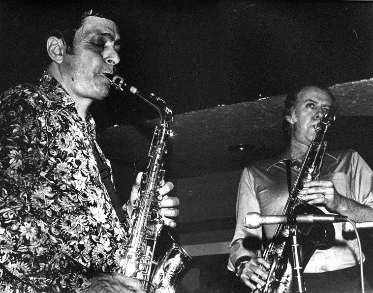 Art Pepper & Warne Marsh -- June 26, 1977 -- Donte's, North Hollywood, California -- Photo by Mark Weber