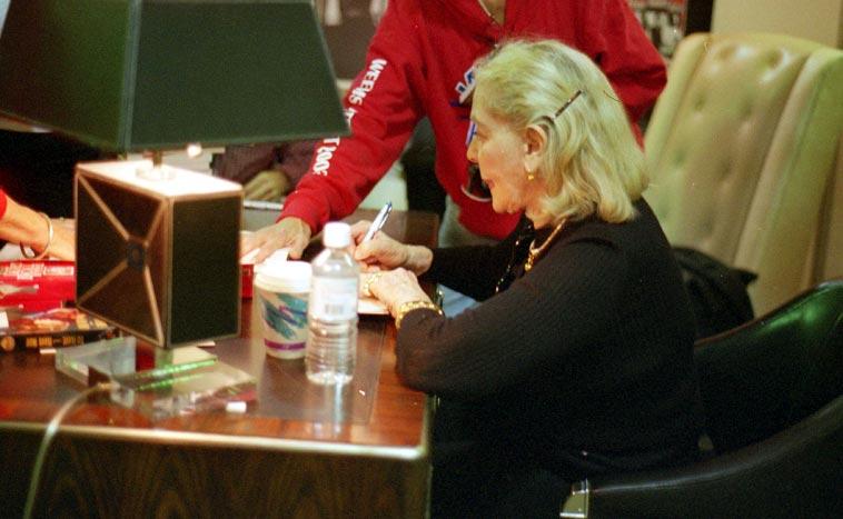 Lauren Bacall -- November 14, 2003 Albuquerque -- photo by Mark Weber
