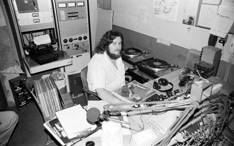 John Breckow ---- KPFK ---- March 16, 1979 ---- photo by Mark Weber