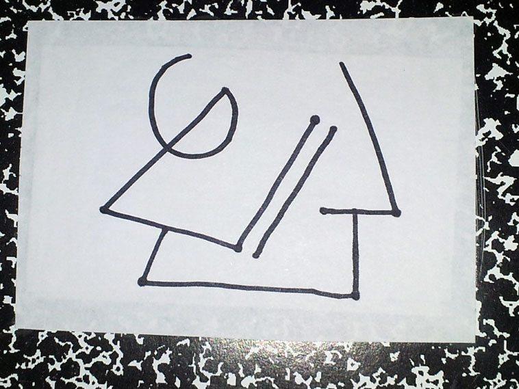"""Plateau""  -- line drawing by Mark Weber -- November 2o13"