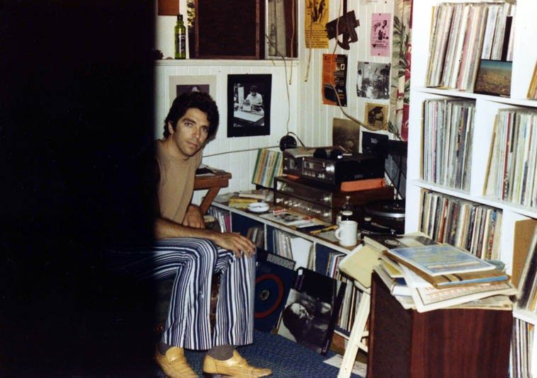 "Here I am in my old house in the alley in Upland California, age 27 -- August 1981 -- Note my photo of Malachi Favors on wall behind AND on the floor Connie Crothers first album PERCEPTION which was in constant rotation those days ----- I had only known Connie's name in association with Lennie Tristano but as wyrd weaves its ways into your life, one day I'm in a supermarket and there's a box up by the cash register that has only about 50 various albums all for 99 cents ---- Now, let me explain: Record albums are not sold in supermarkets in Southern California (except during the Tijuana Brass craze of the early 60s and you'd find those in supermarkets) mostly supermarkets are for food (or as food industry observer Michael Pollan says: Never venture into the aisles, that's where the horror begins, where all the processed ""foods"" are, just stick to the edges of supermarkets where the vegetable department is, and the meat, and the dairy) ---------- SO, I'm standing in line and there's these albums, and here's this Connie Crothers, and it's a reputable label --Inner City-- and what's it doing here? It must have been an insurance recoup from a truck accident? and so I bought one, took it home: a Saturday near Noon, put it on the stereo and it blew my mind, completely unexpected actually (I was somewhat jaded those years after the onslaught of music I'd been tearing through -- I was, as Bob Dylan calls it: a musical expeditionary, still am) ---- and this trio of Connie's was like someone crawled inside my head and played music the way I always wanted to hear it --- I was Los Angeles correspondent to CODA and the next annual Writers Choice I listed it in my ten favorite records of 1982 ---- Wyrd is Anglo-Saxon/Northern European concept of Fate ---- little did I know at the time how much the music of Connie Crothers would intertwine with my future. (we'll be at The Stone on August 23, 2o14)"