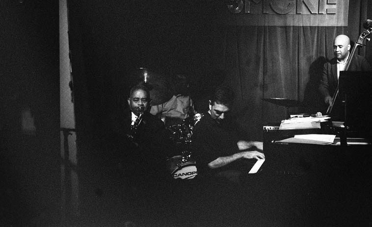 Frank Wess with the Mike LeDonne Trio -- Peter Washington, bass; Kenny Washington, drums; @ Smoke, 106th & Broadway, Manhattan -------- photo by Mark Weber  --------  this club is just down the street from my wife's sister's place so over the years I have caught a lot of great music here when in NYC