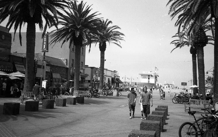 "The Lighthouse on Pier Avenue in Hermosa Beach (that's the pier and the Pacific Ocean) --  June 26, 2o11 -- opened in 1949 and still has a little jazz these days (I was there on this Sunday to  catch the Lanny Morgan Sextet) the marquee has something going about karoake -- Chet Baker's  earliest known recording is ""Get Happy"" (1949) recorded in performance at The Lighthouse -- photo  by Mark Weber"
