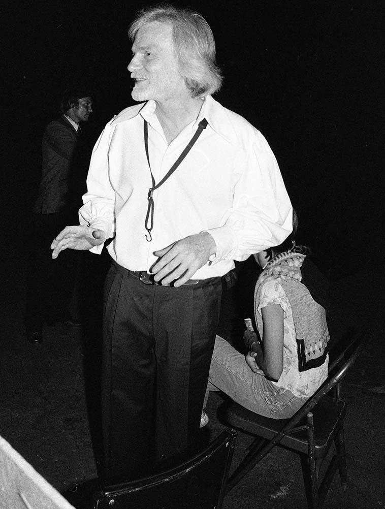"As we stood around Gerry while he signed autographs someone further  back in the crowd, half in jest, yelled, ""Hey, Gerry, where's Chet?"" -- July 30, 1980 --  photo by Mark Weber ---- Hollywood Bowl evening of Bless the Bird: A Tribute to  Charlie Parker ---- (obviously, at this juncture Gerry and Chet hadn't played  together since that 1974 reunion at Carnegie Hall which itself had been years -- 20? --  since they had last played together -- this guy who good naturedly had hollared was  possibly a habitue of the early 50s Haig days of the Quartet)"