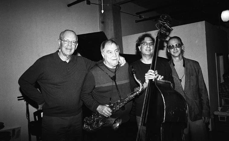 Bill Chattin, Charley Krachy, Don Messina, Jimmy Halperin -- November 16, 2o14 -- photo by Mark Weber