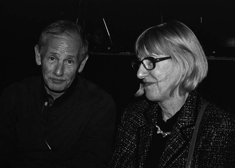 Tad Hershorn, author of the recent Norman Granz biography and an upcoming bio on Jimmy Rowles,  sitting with Lynne Mueller ---- November 13, 2o14 -- photo by Mark Weber