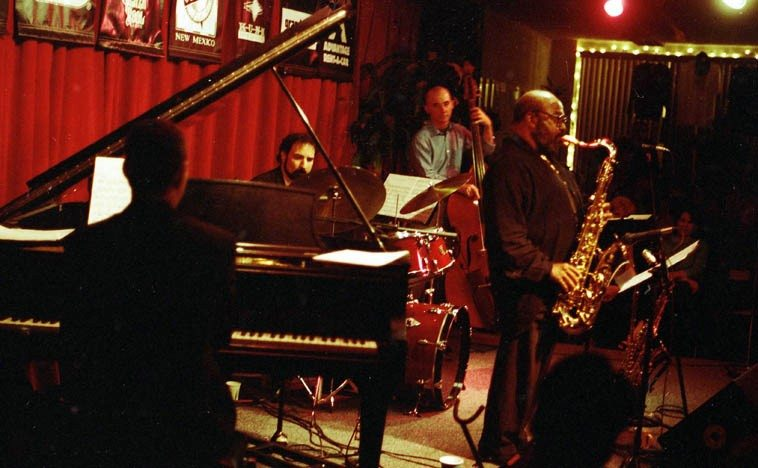 James Moody and his New Mexican Quartet -- April 21, 1997 -- photo by Mark Weber