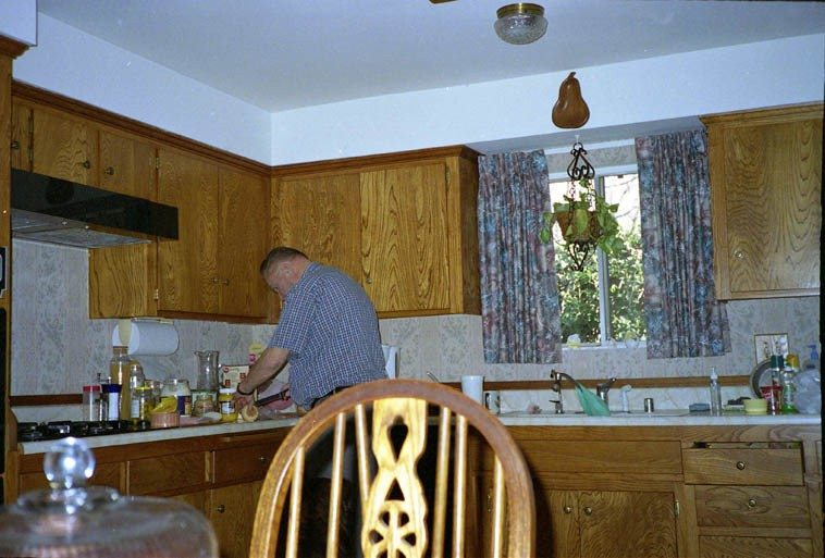 This sandwich thing goes back aways ---- That's my dear old Dad making a sandwich -- December 27, 2oo3