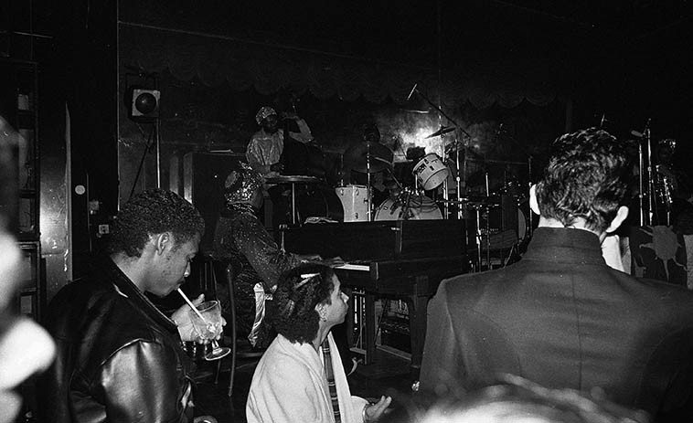 Sun Ra -- November 22, 1981 -- photo by Mark Weber ---- The presence of the Other was  never far away from Ra, he always looked hard to the ineffable, everything was spiritualized  for him ---- Even though there might be a space of five years between catching the Arkestra,  Sun Ra always remember'd me, it was quite mysterious