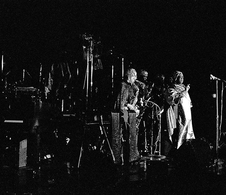 "Sun Ra ""other places of there"" -- April 2, 1981 -- photo by Mark Weber"