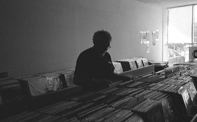 The search continues -- I've been doing this for fifty years and if I live long enough I'll do it for another fifty ----- photo by James Bongard -- June 5, 2o15 at his record store We Buy Music, Albuquerque USA