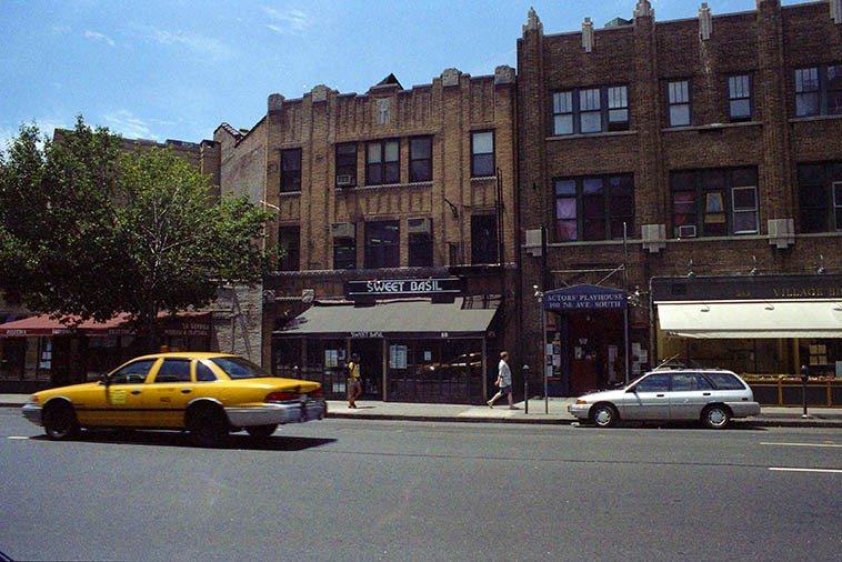 Sweet Basil's jazz club in Greenwich Village, 88 Seventh Avenue South -- July 1, 1997 -- photo by Mark Weber
