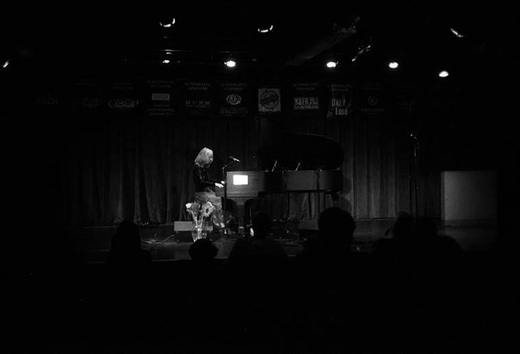 Kazzrie Jaxen -- Outpost Performance Space -- October 21, 2o10 -- photo by Mark Weber