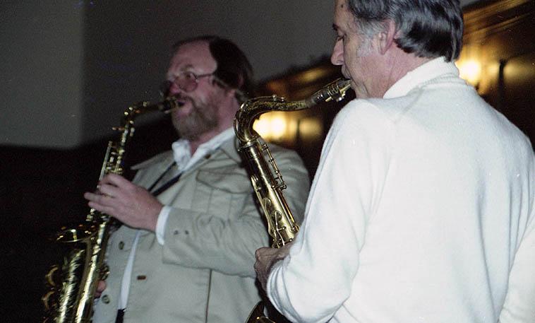Gary Foster & Warne Marsh -- April 28, 1977 -- Pasadena, California -- photo by Mark Weber