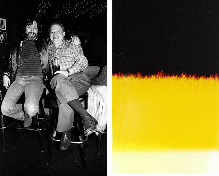 Bobby Shew and Red Rodney kicking back at Carmelo's, North Hollywood -- March 17, 1982 -- photos by Mark Weber