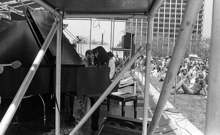 Toshiko Akiyoshi - Lew Tabackin Big Band at the Bonaventure Hotel, Los Angeles -- July 28, 1980 ---- photo by Mark Weber