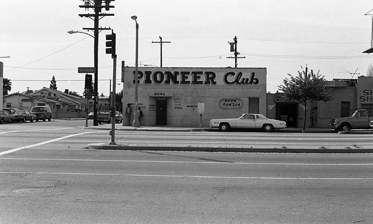 "I caught a lot of blues music in this joint on the weekends ----- Smokey Wilson's Pioneer Club at 88th & Vermont in South Central (altho, we didn't call it ""South Central"" in those days) -- February 28, 1980 -- photo by Mark Weber ---- Most of the post-war black blues musicians in Los Angeles came from the South, most of them from Texas"