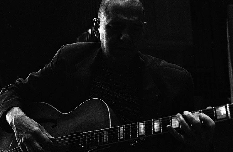 "Every time I hear Andy Fite in a live setting I walk away thinking I just heard the greatest jazz guitarist alive on the planet -- photo by Mark Weber May 29, 2o16 Stockholm -- Andy on his 1950 Epiphone Broadway ""and is far and away the greatest guitar I've ever played"" -- I was surprised to learn that Andy was born in LaJolla, California and spent the first six years of his life six blocks from the Pacific Ocean (his father was a physicist who played oboe, and his jobs were itinerant) -- I've always thought of him as a product of Pittsburgh, ""We landed at Pittsburgh airport on November 14, 1963"" -- He studied with the legendary Pittsburgh guitarist Joe Negri -- Attended his first jam session at age 18 at the Zebra Room, run by drummer Spider Ronderelli -- at our gig at Khimaira on the 30th, he and Niklas took off on a version of ""Out of Nowhere"" that was so deep that Eva and I decided to sit out -- I sure hope to hear the recordings of this concert some day . . . ."