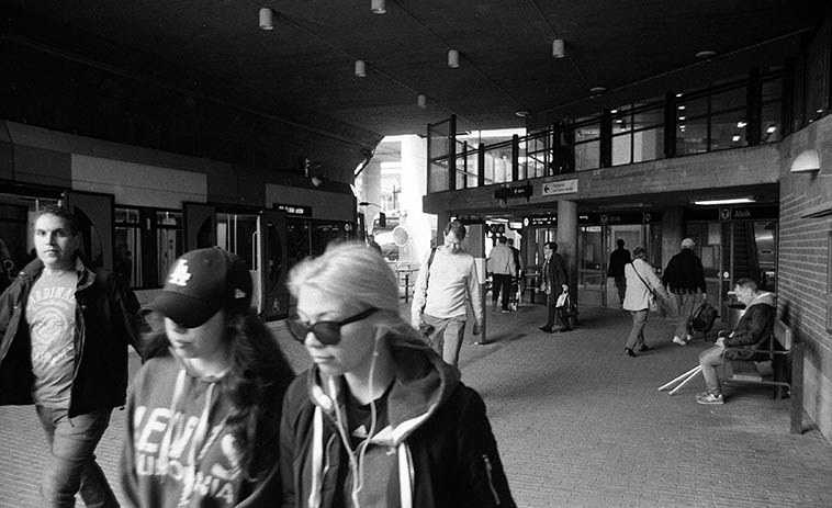 Alvik train station stop -- 11:25 a.m. May 29, 2o16 Stockholm -- photo by Mark Weber en route to Grondal Krykan