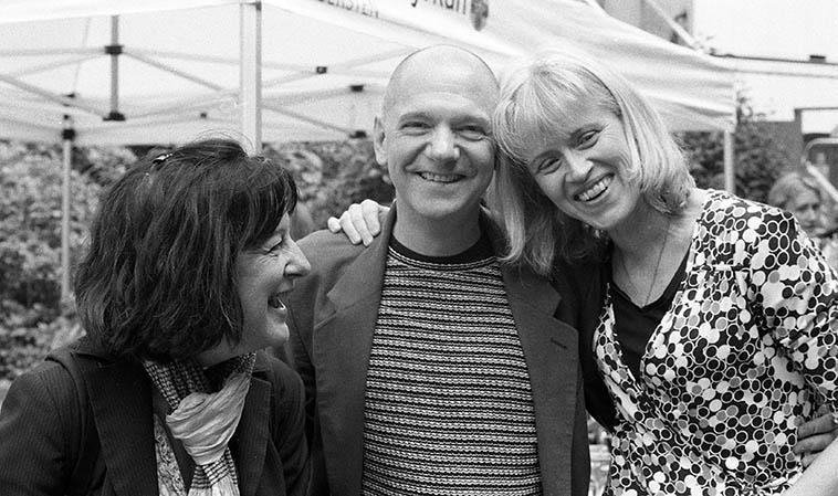 Eva Lindal, Andy Fite, Boel Dirke, Stockholm -- May 29, 2016 -- photo by Mark Weber