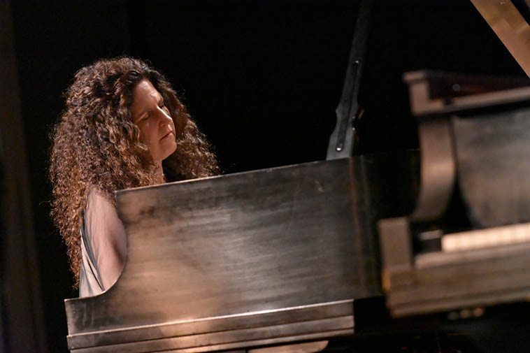 Through it all, the Seventies, Eighties, Nineties, they remained friends and to this day their collective has remained a true community of artists working together, searching and dreaming, making sense of it all -- Carol Liebowitz during her solo set May 6 photo by Jim Gale