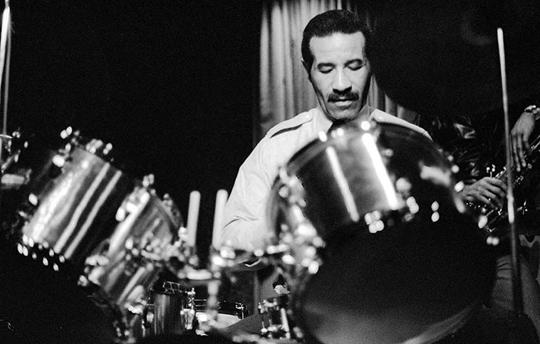 Max Roach -- January 8, 1977 -- photo by Mark Weber