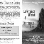 Kathleen Lee and Lawrence Welsh Reading | click the image for more detailed informations...