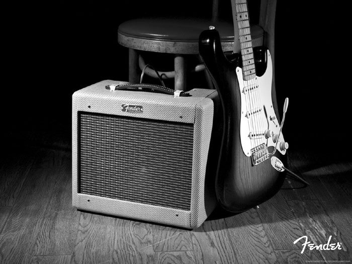 old-fender-amp-and-electric
