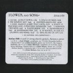 Stefan Dill | Flower and Song ; back cover image