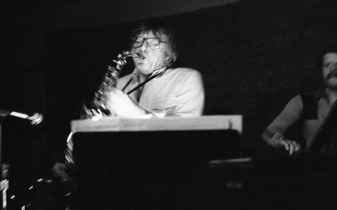 Bud Shank in flight | January 18, 1981 | Photo by Mark Weber
